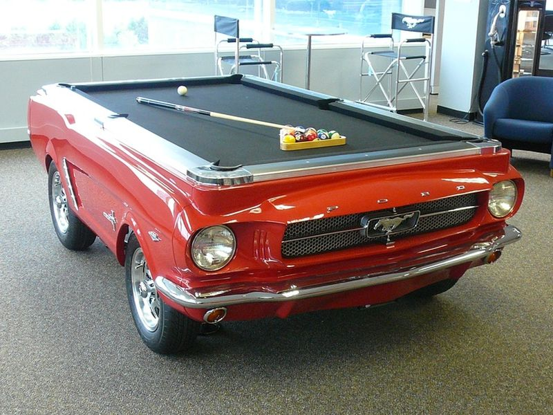 US Billardtisch Mustang rot